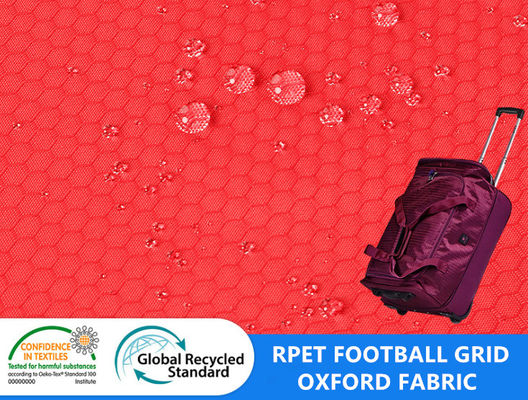 Football Grid Honey Comb Anti Static Recycled Dobby Polyester Oxford
